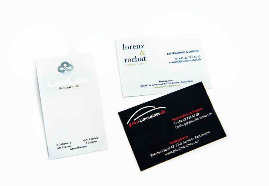 Tarjetas de visita - Gráficas Lomar
