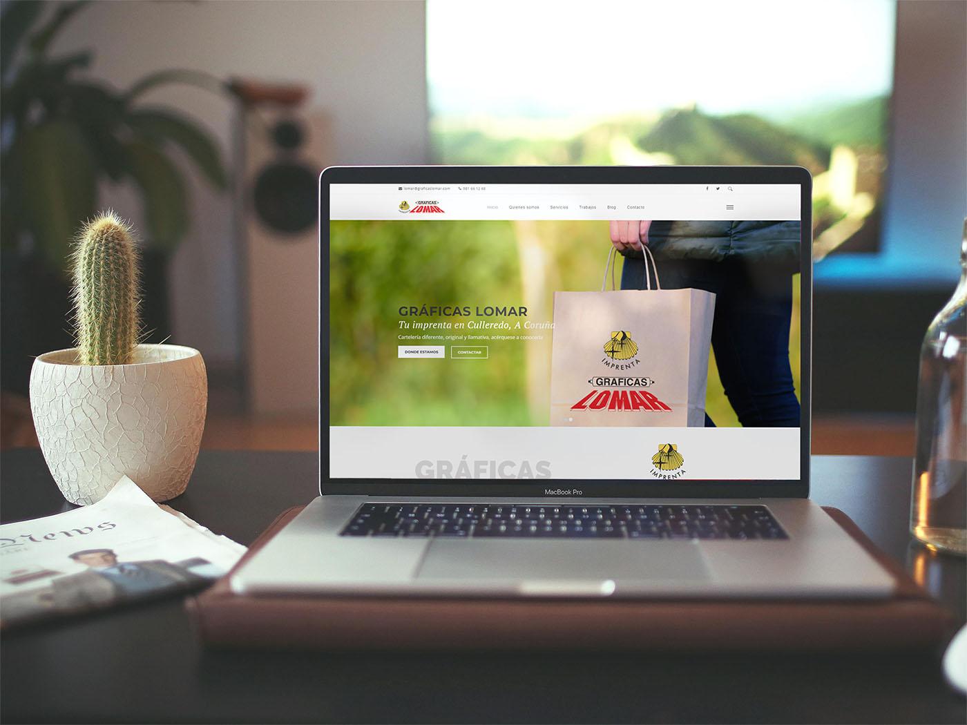 Mockup web Gráficas Lomar